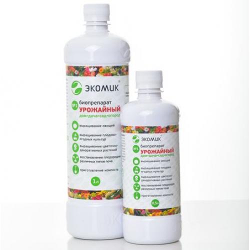 Биофунгицид/удобрение Экомик Урожайный 0,5л